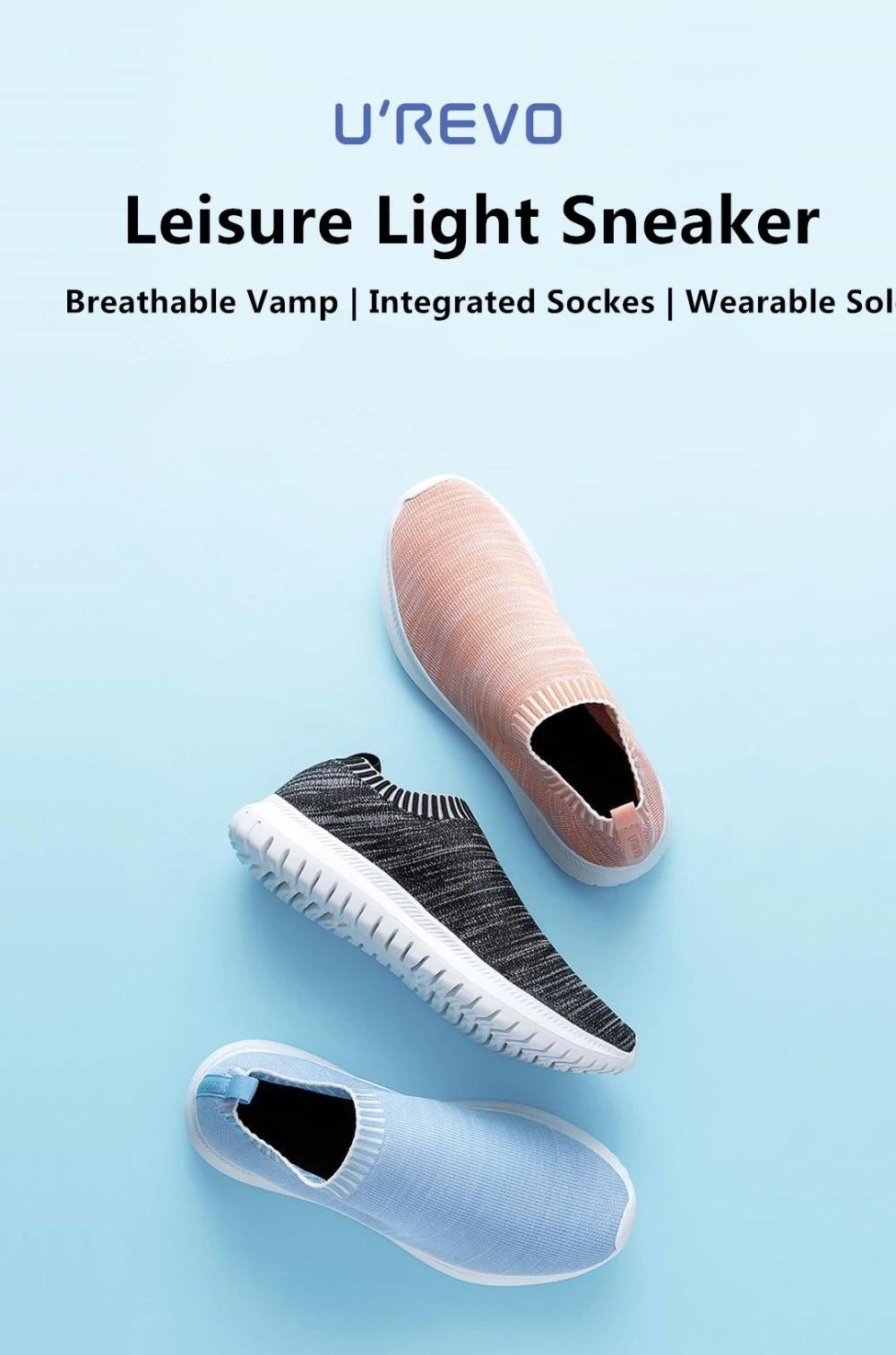 Xiaomi UREVO Leisure Light Sneaker Sport Gym Shoes Lightweight Ventilate Elastic Wearable Outdoor Sport Shoes for MenWomen (1)