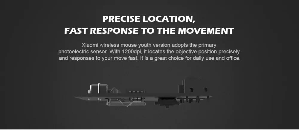 Xiaomi Wireless Mouse Youth Version 1200dpi- Black
