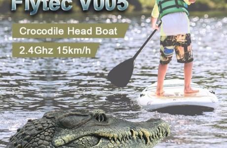 ראש תנין צעצוע על שלט רחוק - להטיל אימה במים!