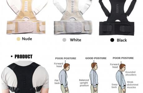 חגורת גב איכותית לשיפור היציבה לנשים ולגברים - מגוון צבעים לבחירה!