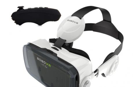 משקפי מציאות מדומה BOBOVR משולבות אוזניות ושלט בלוטות