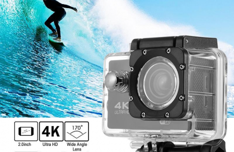 מצלמת אקסטרים 4K לפעילויות ספורט בים באוויר וביבשה!