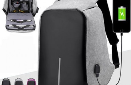 תיק גב נגד גניבות וכייסים חסין מים + חיבור USB להטענת הסלולרי