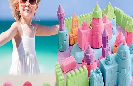 """חול משחק """"חול קסם""""- חול גמיש, לח לא מלכלך ומפתח את המוטוריקה והדמיון"""