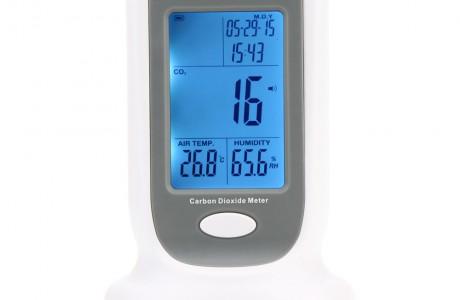 מכשיר נייד לאיתור פחמן דו-חמצני למדידת איכות האוויר