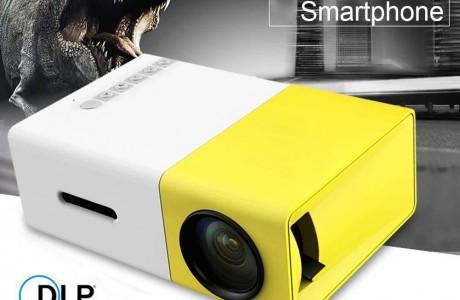 מקרן מולטימדיה נייד HD עוצמתי, עד 80 אינץ' בטכנולוגיית LED כולל שלט רחוק