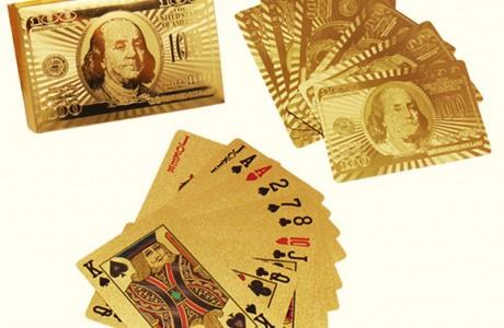 אוהבים לשחק קלפים? חבילת קלפים באיכות גבוהה בציפוי זהב 24 קארט