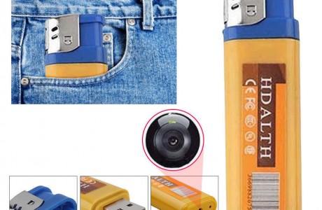 מצלמת אבטחה נסתרת HD במצית