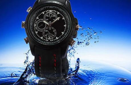 מצלמה נסתרת בשעון יד חסין למים
