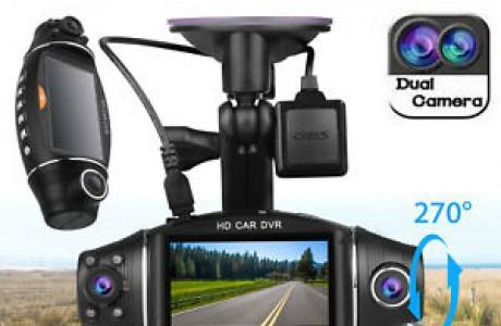 מצלמת דרך דו-כיוונית עם עדשה כפולה רחבה ו-GPS מובנה