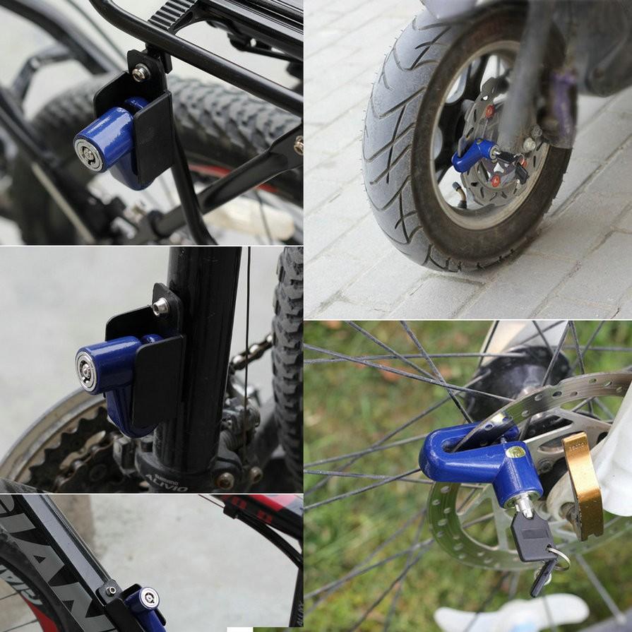 אולטרה מידי מנעול דיסק אל חלד בעיצוב חדשני לאופנועים / קטנועים כולל 2 מפתחות KA-57